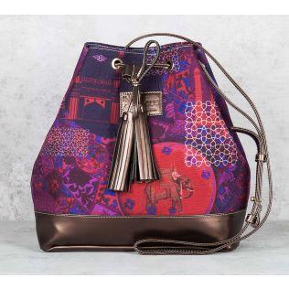 Violet Fusion Hobo Bag