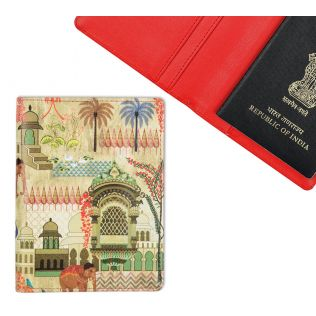 Mughal Treasures Passport Cover