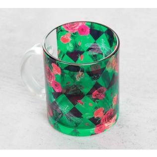 Floral Flutter Glass Mug