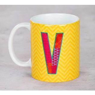 Chevron Vivid Ceramic Coffee Mug
