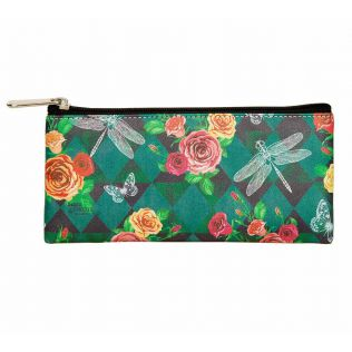 Floral Flutter Small Utility Pouch