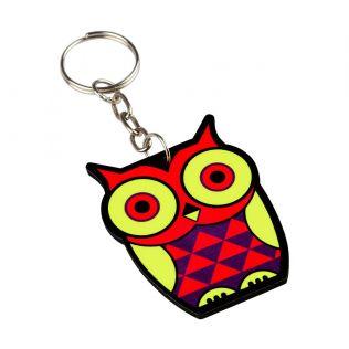 Peeking Owls Keychain