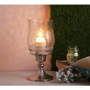 India Circus Glass Hurricane Small Lamp