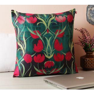 India Circus Waves of Blossom Blended Velvet Cushion Cover