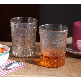 India Circus Tangerine Glass Tumbler (Set of 2)