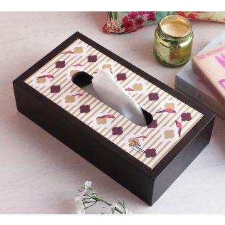 India Circus Peeking Parrots MDF Tissue Box Holder