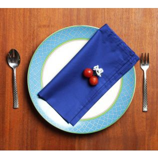 India Circus Royal Azure Table Napkin Set of 6