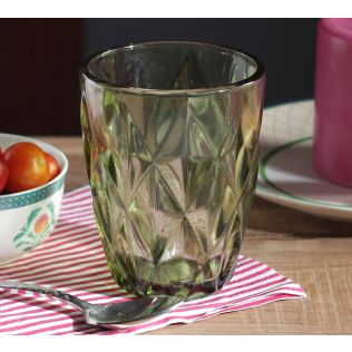 India Circus Green Orchid Small Glass Tumbler