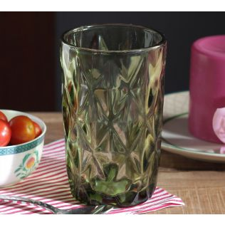 India Circus Green Orchid Regular Glass Tumbler