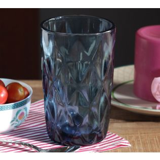 India Circus Blue Sainte Regular Glass Tumbler