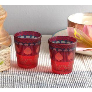 India Circus Placid Patterns Shot Glasses Set of 2