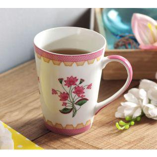 India Circus Lattice Lotus Coffee Mug