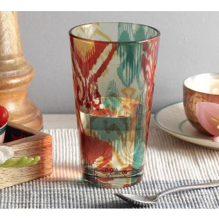 India Circus Flirtatious Flowers Glass Tumbler