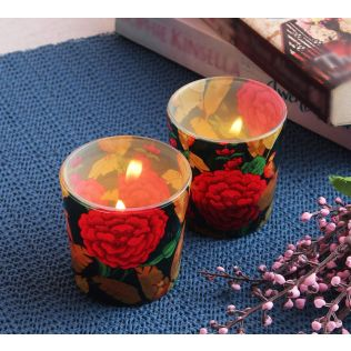 India Circus Bayrose Romance Tea Light Holder Set of 2