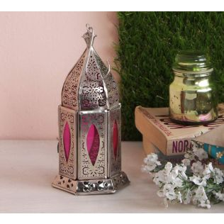 India Circus Blush Window Candle Lantern