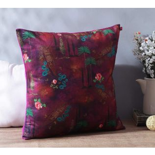 India Circus Jam Lake Florist Blended Velvet Cushion Cover