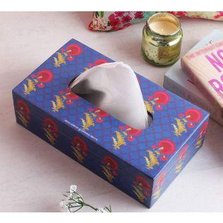 India Circus Yale Flower Regalia Tissue Box Holder