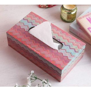India Circus Waves of Chevron Tissue Box Holder