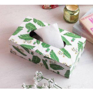 India Circus Banana Leaves Tissue Box Holder