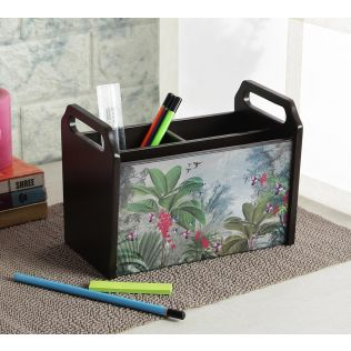 India Circus Tropical View Desk Organizer