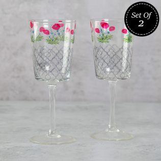 Floral Twinkles Wine Glasses (Set of 2)