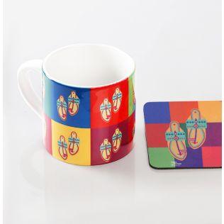 Toe-tal Funk Espresso Small Mug (1 Ceramic Mug + 1 PVC Coaster)