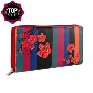 Floral Trail Zipper Wallet