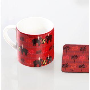 Imperial Trail Espresso Small Mug (1 Ceramic Mug + 1 PVC Coaster)