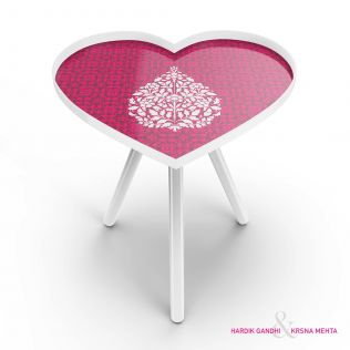 Paisely Heart Side Table