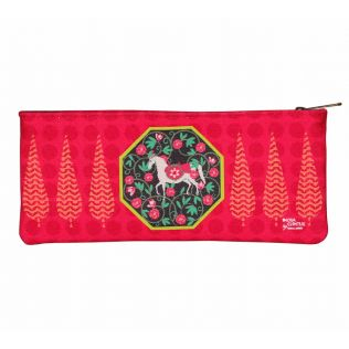 India Circus Conifer Stallion Reiteration Small Makeup Pouch