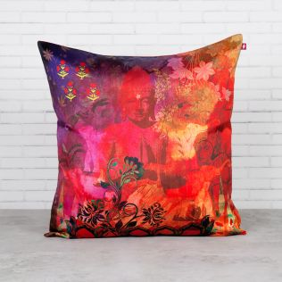 Crown of Siddhartha Blended Taf Silk Cushion Cover
