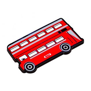Double Decker MDF Fridge Magnet