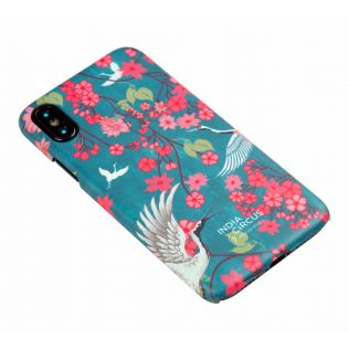 India Circus Flight of Cranes Floral Flutter iPhone X Cover
