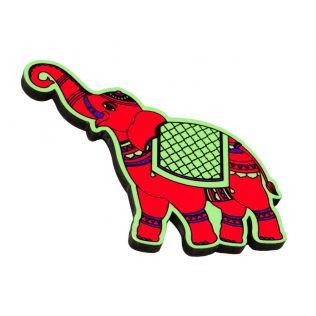 Funky Elephants MDF Fridge Magnet