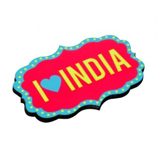 I Heart India MDF Fridge Magnet