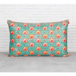 India Circus Abstract Lotus Reiteration Blended Velvet Cushion Cover