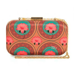 India Circus Amber Platter Symmetry Clutch