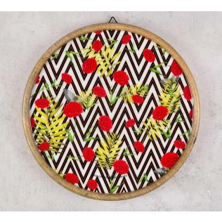 India Circus Bayrose Chevron Wooden Wall Plate