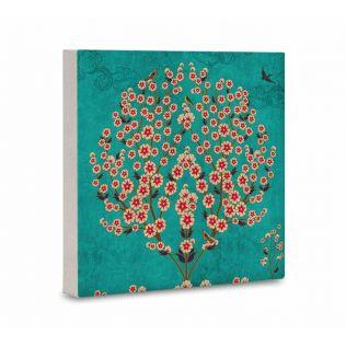 India Circus Beryl Boutonniere Canvas Mounted Wall Art