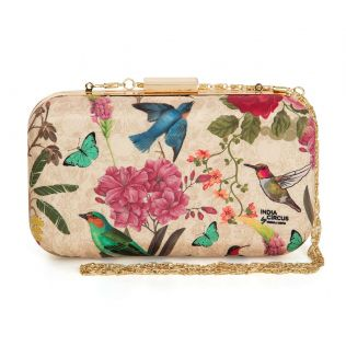 India Circus Bird Land Clutch