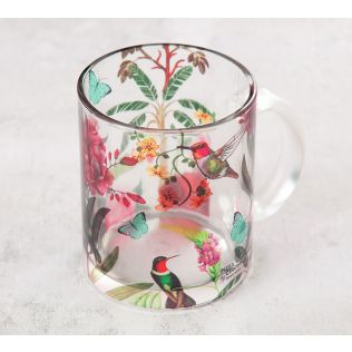 India Circus Bird Land Glass Mug