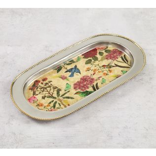 India Circus Bird Land Steel Serving Tray