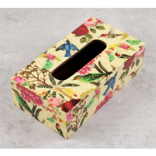 India Circus Bird Land Tissue Box Holder