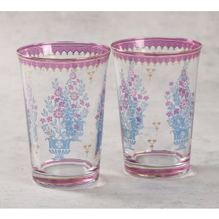 India Circus Birdi Park Glass Tumbler Set of 2