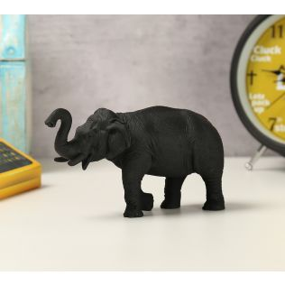 India Circus Black Baby Tusker Figurine