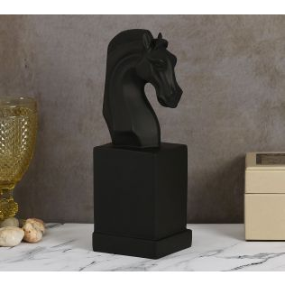 India Circus Black Beauty Horse Head Figurine