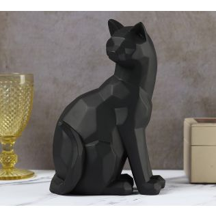 India Circus Black Cat Figurine
