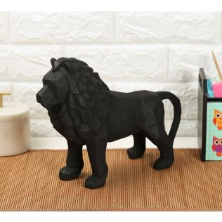 India Circus Black King of Beasts Figurine