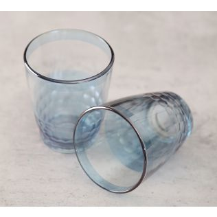 India Circus Blue Honeycomb Water Tumbler Set of 2
