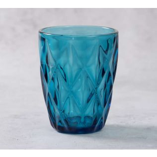 India Circus Blue Sainte Small Glass Tumbler